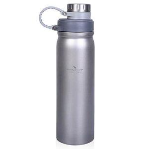 Boundless Voyage チタン 水筒 ボトル 1リットル 大容量 軽量 スポーツボトル スポーツ水筒 片手 ジム スポーツ アウトドア キャンプ用 チタンボトル 携帯便利 錆びない 金属臭いなし 金属音なし