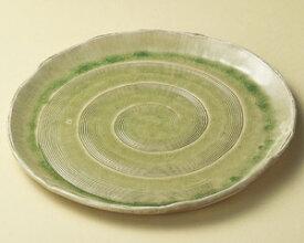 36cm 萌黄 信楽丸大皿 手造り 大日本製 おもてなしの器お惣菜の盛り合わせ 炊きもの 煮物 おばんざいの盛り付けに大振りの皿 深皿 特大サイズ35cm以上