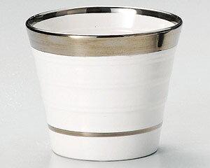 300cc マリアージュ シルバーライン 焼酎カップ日本製 ロック ビール カクテル 梅酒 焼酎 フリーカップ & そば猪口にも 銀線が美しいお酒の器