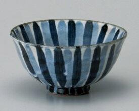 12cm 茶漬け碗が2形状 織部彫十草・内外藍十草日本製