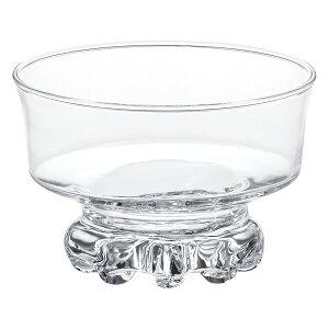 強化ガラス製 高台デザートボウル  10.5x7cm 日本製 アイスクリーム プリン フルーツ サンデー シリアル 魅惑のガラスシリーズ