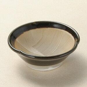 【陶器まつり】12cm 黒織部 花形すり鉢 納豆小鉢 12x4.5cm 納豆鉢 ごますり ドレッシング 卓上でも素敵なスリ小鉢 下ごしらえの擂る おろす 潰す 絞る作業は安全な国産食器で日本製の逸品