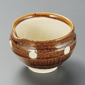 飴釉水玉 10.5cm 片口スリ鉢 納豆鉢 (土物)10.5x9.5x7cm 日本製 下ごしらえの擂る おろす 潰す 絞る作業は安全な国産食器で