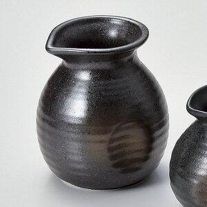 320cc 黒備前金茶吹き 蕎麦徳利 8.5cmx7.5cm日本製 そば徳利 蕎麦懐石用品そばつゆ入れ だし入れ 日本ソバ食器