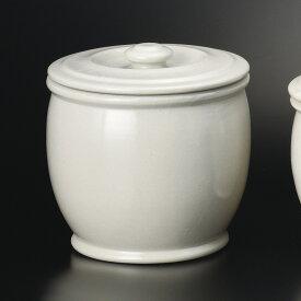白釉 9000cc 5升かめ 保存壺 27x28cm 梅干し 味噌 糠みそ キムチ 漬物大型 甕 調味料容器 保存容器 日本製 美濃焼