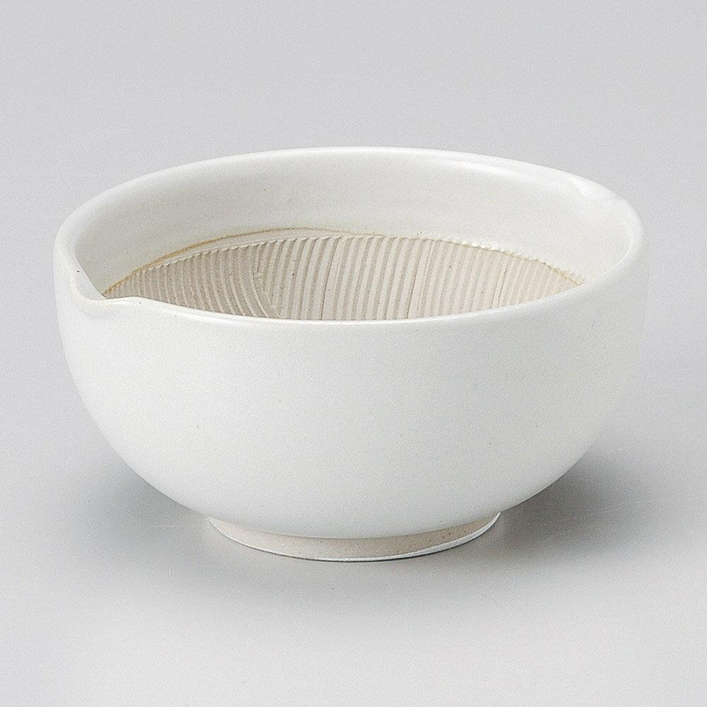 【すり鉢 & おろし器 & 乳鉢 & レモン絞りが 問屋価格で】白釉 13cm 波紋櫛目丸スリ鉢 & 丼 小下ごしらえの擂る、おろす、潰す、絞る作業は安全な日本製食器で