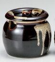 天目釉 蓋付 180ccドレッシング かめポット日本製の薬味つぼ、調味料容器