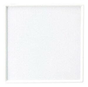 オードブル 23cm スイーツ & パスタ角皿日本製 シンプルなスクエア フラット皿前菜 チーズ盛り合わせ デザート アラカルトのおしゃれ 高級感のある白いプレート