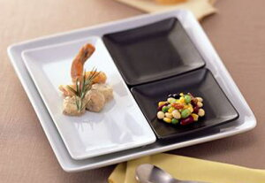 黒角膳 12cm 正角ナッピー皿日本製 美濃焼オリーブオイル 薬味 塩 スパイス ジャム ソース しょうゆ 香の物和洋対応のスクエア小皿 ミニプレート