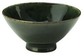 深海shinkai 12.5cm ご飯茶碗 大茶碗12.5x6cm おおぶり飯碗 茶漬け碗深味のある織部釉日本製