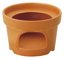 ラッパ型 フリーウォーマー オレンジ固形燃料OK 日本製耐熱陶器フォンデュやバーニャカウダに。固形燃料が使える卓上コンロ