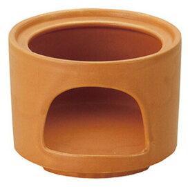 11cm オレンジ 切立ウォーマー (固形燃料用)日本製耐熱陶器フォンデュ&バーニャカウダ用卓上コンロ