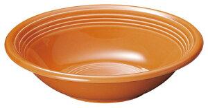オービット 24cm パスタ & スープボウル キャロットオレンジ(橙)日本製美濃焼厚口クラシカルな業務用カフェ ダイナー タパス食器スパゲッティ カレーボウル リゾット シチュー スープ