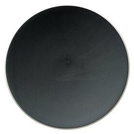 カルマCALMA 25cmプレート 黒 25.3x2.8cm 日本製切り立ったリムの白い縁取り 無駄のない形状 端正なモノトーン食器スパゲッティ パスタ リゾット ランチ デザートに