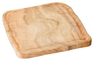 25cm 木製スクエアプレート25x2cm 天然木のサービングボード 豪快な肉料理の演出に 木をそのまま生かしたダイナミックな器 タイ製オードブル盛り合わせ チーズ ソーセージ ワイルドなジビエ