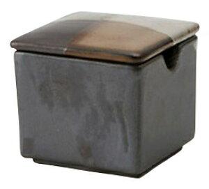 紡ベージュ 角型 からし入れ5.2x4.8cm 七味 にんにく 味噌 豆板醤 和モダン 業務用カスター 卓上用品日本製