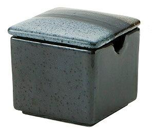 織ブルー 角型 からし入れ5.2x4.8cm 七味 にんにく 味噌 豆板醤 和モダン 業務用カスター 卓上用品日本製