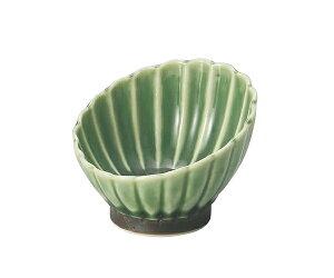 霞 7cmななめ小鉢 緑9仕切り松花堂弁当箱対応小鉢 7cmxTH4.3cm 薬味 珍味入れ 塩 つけだれ ソース ジャム スパイスの小鉢にミニボール 豆鉢