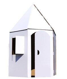 ぺったんハウス〜「つながるおしろ」こどもの想像力/創造力が広がるダンボールのお家おえかき デコレーション 連結が楽しめる変形ハウス遊んだあとは収納も可。何度でも組み立てられるマジックテープ式日本製 オリジナルデザイン