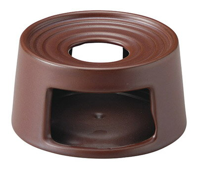 鉄赤 健康鍋 14cm 切立ウォーマー 小(固形燃料用)日本製耐熱陶器・卓上コンロアヒージョ、フォンデュ、陶板料理、タパス・バル料理