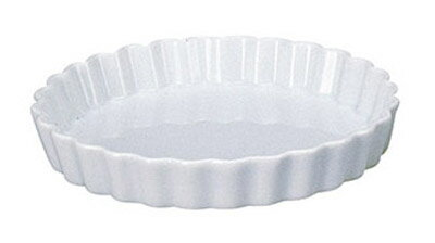白Pie Dish 丸型20cm パイ & キッシュ 皿
