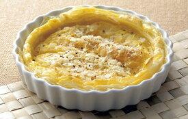"""白Pie Dish 丸型18cm  7""""パイ 皿  日本製の入れ子収納ができる便利なオーブン & レンジ食器"""