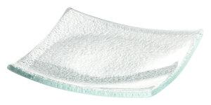 ガラス製 10cm スクエアプレート 9.8x1.3cm トルコ製 業務用ガラス食器デザート ジャム ソース スパイスのミニ鉢 角型小皿ビュッフェ アペタイザー用品 ナッピー皿