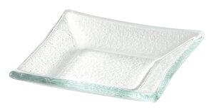 ガラス製 7.5cm 角小皿 7.7x1.4cm トルコ製 業務用ガラス食器デザート ジャム ソース スパイスのミニプレート 角型小皿ビュッフェ アペタイザー用品 ナッピー皿