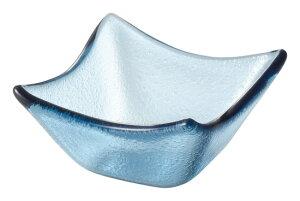 ガラス製 7cm 角ボウル ブルー7.3x3.8cm トルコ製 業務用ガラス食器デザート ジャム ソース スパイスのミニ鉢 角型小鉢