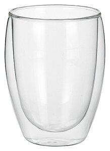 380cc ダブルウォールグラス 大8.2cmx12cm 耐熱ガラス製 ホットでもアイスでも使えるマルチカップ アイスクリーム サラダ シリアル 冷製スープ ディップソース入れ カクテル業務用マルチグラス