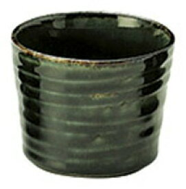 深海shinkai 220cc そば猪口8.3x6.7cmより深く 織部の緑 和の釉薬デザインシリーズ 日本製 美濃焼 そば懐石用品