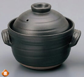 大黒4合ふっくら ご飯土鍋(中蓋付き) 直火専用毎日炊ける 簡単・シンプル・手間なしおいしいごはん内蓋有りでおいしく炊ける!遠赤効果でふっくら・もっちり・土鍋ごはん