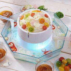 【あす楽】ひんやりそうめん DWT-19 | 電池式 | 氷で冷やした麺が回る | ドウシシャ | 1年保証