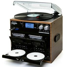 【あす楽】BELIEVE ダブルCDマルチレコードプレーヤー B-600 | CD→CD録音対応 | CD-RW対応 | ダブルカセット | 1年保証