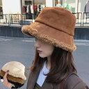 2020秋 秋冬物新作 レディース フェイクスエード ボア ハットふわふわ 帽子 バケットハット フワフワ もこもこ スェー…