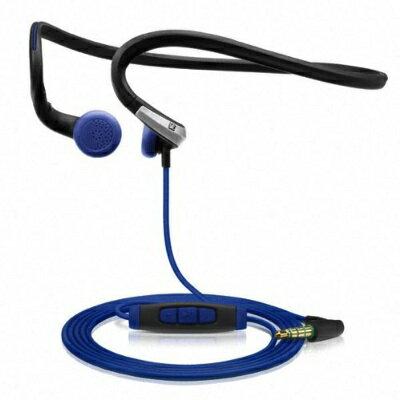 Sennheiser ゼンハイザー PMX 685i スポーツ インイヤー ネックバンド・ヘッドホン ブラック・ブルー Sports In-Ear Neckband Headphones Black Blue 3.5 mm angled・お取寄