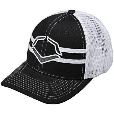 Evoshield エボシールド グランドスタンド フレックスフィット キャップ 帽子 L/XLサイズ ブラック/ホワイト Grandstand Flexfit Cap Large/X-Large Black/White・お取寄