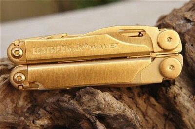 日本未発売 レザーマン Leatherman Wave 24K ダマスカス鋼 24金ゴールド ナイフ・お取寄