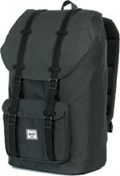 ハーシェルサプライ リトルアメリカ バックパック ダークグレー/ブラック Herschel Supply Co. Little America Backpack Dark Shadow/Black Synthetic Leather・お取寄