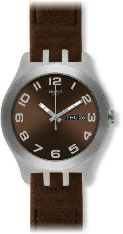 スウォッチ SWATCH NEW IRONY BIG(ニューアイロニービッグ) BROWN CLASSIC(ブラウン・クラッシック) YTS713 メンズ 腕時計・お取寄