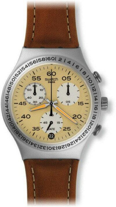 スウォッチ SWATCH IRONY CHRONO(アイロニークロノ) BRUSHED EARTH (ブラッシュド・アース) YCS4053 メンズ 腕時計・お取寄