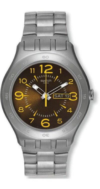 スウォッチ SWATCH IRONY BIG(アイロニー ビッグ) BROWN TRUFFLE(ブラウン・トリュフ) YTS711G メンズ 腕時計・お取寄