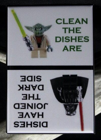 Star Wars スターウォーズ 食洗機用マグネット ヨーダ・ダースベイダー Clean/Dirty LEGOs Dishwasher Magnet Yoda Vader MiniFigure 655257526379・お取寄