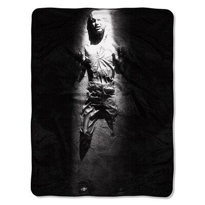 Star Wars スターウォーズ ローグワン フリーススロー ブランケット Han Solo in Carbonite Fleece Throw Blanket 46x60インチ 0087918099128・お取寄