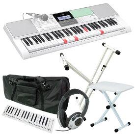 【2月下旬頃入荷予定】CASIO カシオ 61鍵盤 光ナビゲーション・キーボード LK-512 初心者入門セット(スタンド・イス・ケース・ヘッドフォン・クロス)【LK512 KBSDWH KB4400WH KBC61M HP170 KDC01】【子供用 電子ピアノ】【発送区分:大型】