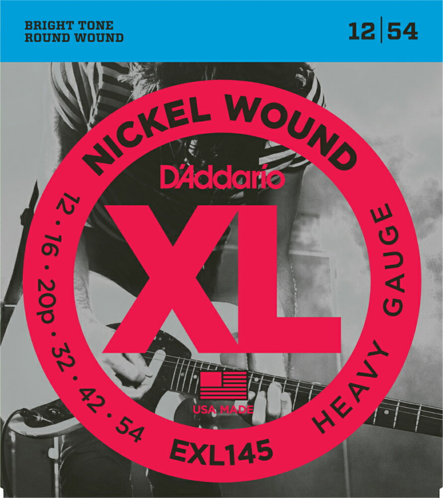 "D'Addario ダダリオ エレキギター弦 EXL145 ""XL Nickel Round Wound"" [daddario エレキ弦 EXL-145]【ゆうパケット対応】"