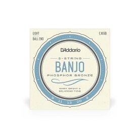 D'Addario ダダリオ バンジョー弦 フォスファー Light 5弦 ボールエンド .009-.020 EJ69B [daddario ダダリオ]【ゆうパケット対応】