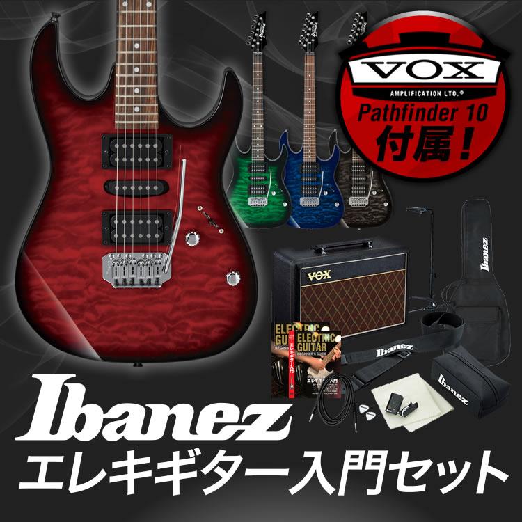 【予約カラーは1月下旬頃入荷】GIO Ibanez アイバニーズ エレキギター GRX70QA [VOX Pathfinder10 アンプ入門セット]【発送区分:大型】