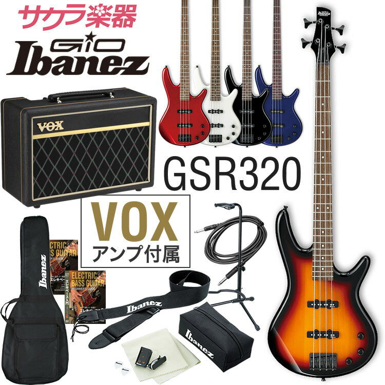 GIO Ibanez アイバニーズ ベース GSR320 [VOX Pathfinder10 Bass アンプ入門セット]【発送区分:大型】
