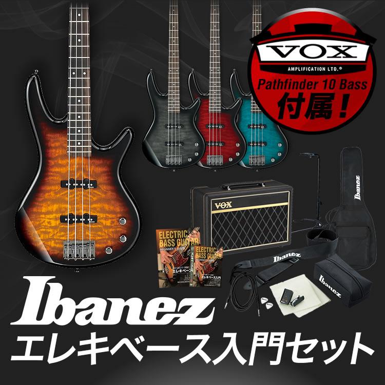 【7%OFFクーポンが使える!1月22日9時59分まで】GIO Ibanez アイバニーズ ベース GSR370 [VOX Pathfinder10 Bass アンプ入門セット]【発送区分:大型】